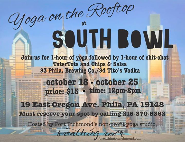 Rooftop Yoga at South Bowl in October