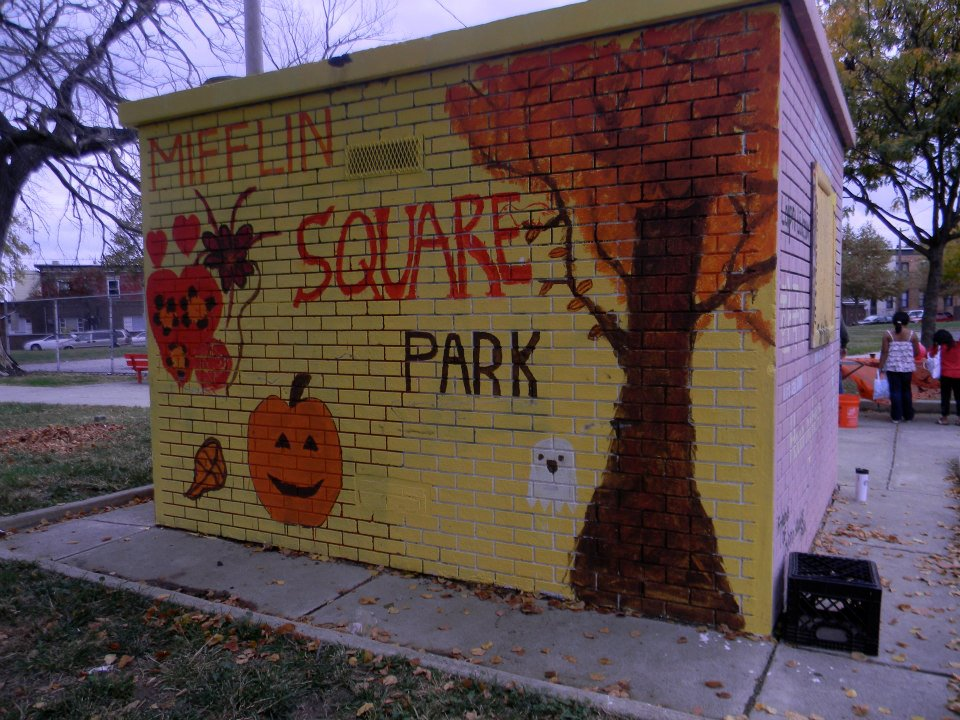 Whitman Halloween Mifflin Square