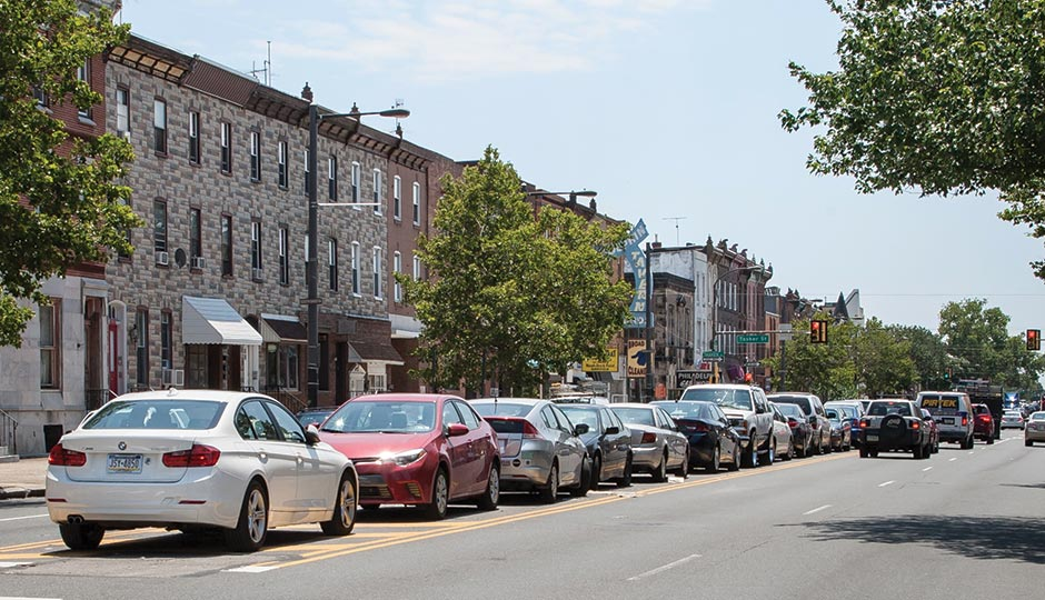 South Broad St Parking divide